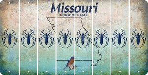 Missouri SPIDER Cut License Plate Strips (Set of 8) LPS-MO1-076