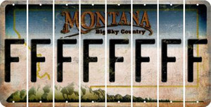 Montana F Cut License Plate Strips (Set of 8) LPS-MT1-006