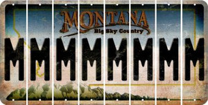 Montana M Cut License Plate Strips (Set of 8) LPS-MT1-013