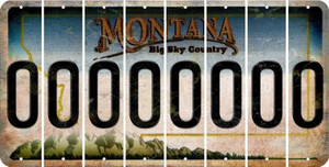 Montana 0 Cut License Plate Strips (Set of 8) LPS-MT1-027
