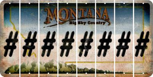 Montana HASHTAG Cut License Plate Strips (Set of 8) LPS-MT1-043