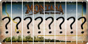 Montana QUESTION MARK Cut License Plate Strips (Set of 8) LPS-MT1-047