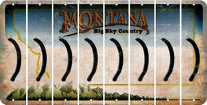 Montana RIGHT PARENTHESIS Cut License Plate Strips (Set of 8) LPS-MT1-048