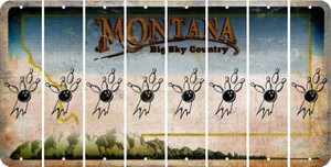 Montana BOWLING Cut License Plate Strips (Set of 8) LPS-MT1-059