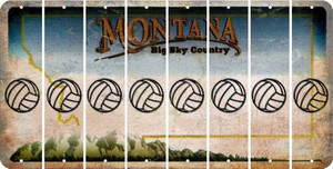 Montana VOLLEYBALL Cut License Plate Strips (Set of 8) LPS-MT1-065