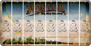 Montana BABY GIRL Cut License Plate Strips (Set of 8) LPS-MT1-067