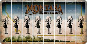 Montana MOM Cut License Plate Strips (Set of 8) LPS-MT1-070