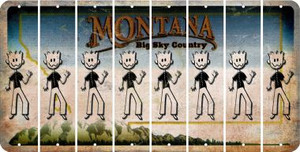 Montana DAD Cut License Plate Strips (Set of 8) LPS-MT1-071