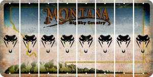 Montana SNAKE Cut License Plate Strips (Set of 8) LPS-MT1-088