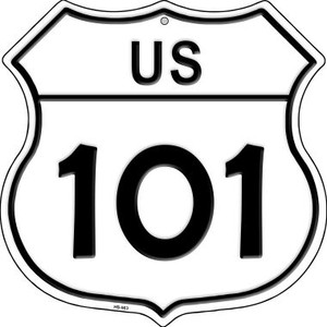 US Highway 101 Wholesale Novelty Highway Shield HS-563