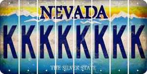 Nevada K Cut License Plate Strips (Set of 8) LPS-NV1-011
