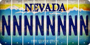 Nevada N Cut License Plate Strips (Set of 8) LPS-NV1-014