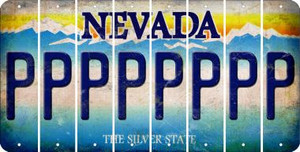Nevada P Cut License Plate Strips (Set of 8) LPS-NV1-016