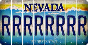 Nevada R Cut License Plate Strips (Set of 8) LPS-NV1-018