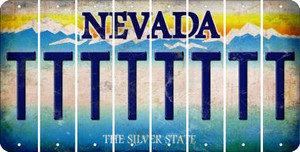 Nevada T Cut License Plate Strips (Set of 8) LPS-NV1-020