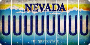 Nevada U Cut License Plate Strips (Set of 8) LPS-NV1-021