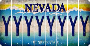 Nevada Y Cut License Plate Strips (Set of 8) LPS-NV1-025