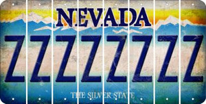 Nevada Z Cut License Plate Strips (Set of 8) LPS-NV1-026