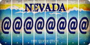 Nevada ASPERAND Cut License Plate Strips (Set of 8) LPS-NV1-039
