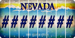 Nevada HASHTAG Cut License Plate Strips (Set of 8) LPS-NV1-043