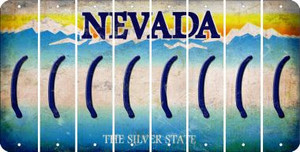 Nevada LEFT PARENTHESIS Cut License Plate Strips (Set of 8) LPS-NV1-045
