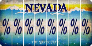 Nevada PERCENT SIGN Cut License Plate Strips (Set of 8) LPS-NV1-046