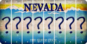 Nevada QUESTION MARK Cut License Plate Strips (Set of 8) LPS-NV1-047