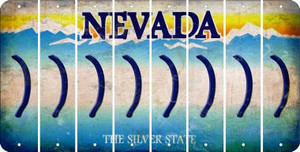 Nevada RIGHT PARENTHESIS Cut License Plate Strips (Set of 8) LPS-NV1-048
