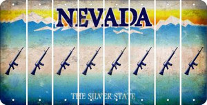 Nevada M16 RIFLE Cut License Plate Strips (Set of 8) LPS-NV1-052