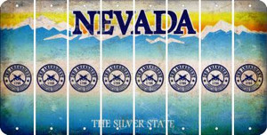Nevada 2ND AMENDMENT Cut License Plate Strips (Set of 8) LPS-NV1-056
