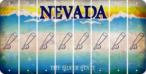 Nevada BASEBALL WITH BAT Cut License Plate Strips (Set of 8) LPS-NV1-057