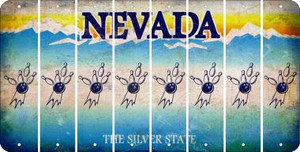 Nevada BOWLING Cut License Plate Strips (Set of 8) LPS-NV1-059