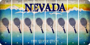 Nevada TENNIS Cut License Plate Strips (Set of 8)