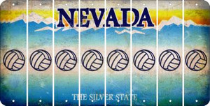Nevada VOLLEYBALL Cut License Plate Strips (Set of 8) LPS-NV1-065