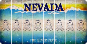 Nevada BABY GIRL Cut License Plate Strips (Set of 8) LPS-NV1-067