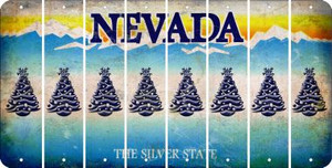 Nevada CHRISTMAS TREE Cut License Plate Strips (Set of 8) LPS-NV1-077