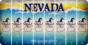 Nevada SNOWMAN Cut License Plate Strips (Set of 8) LPS-NV1-079