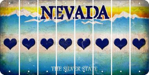 Nevada HEART Cut License Plate Strips (Set of 8) LPS-NV1-081