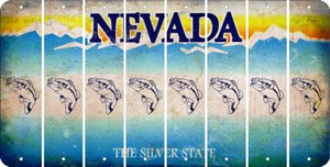 Nevada FISH Cut License Plate Strips (Set of 8) LPS-NV1-086