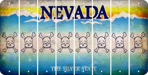 Nevada SKULL Cut License Plate Strips (Set of 8) LPS-NV1-092