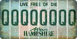New Hampshire Q Cut License Plate Strips (Set of 8) LPS-NH1-017