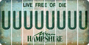 New Hampshire U Cut License Plate Strips (Set of 8) LPS-NH1-021