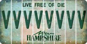 New Hampshire V Cut License Plate Strips (Set of 8) LPS-NH1-022