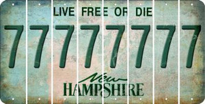New Hampshire 7 Cut License Plate Strips (Set of 8) LPS-NH1-034
