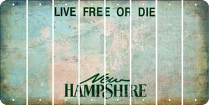 New Hampshire BLANK Cut License Plate Strips (Set of 8) LPS-NH1-037