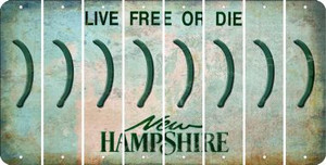 New Hampshire RIGHT PARENTHESIS Cut License Plate Strips (Set of 8) LPS-NH1-048