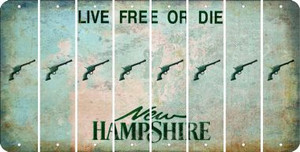 New Hampshire PISTOL Cut License Plate Strips (Set of 8) LPS-NH1-053