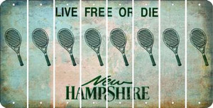 New Hampshire TENNIS Cut License Plate Strips (Set of 8) LPS-NH1-064