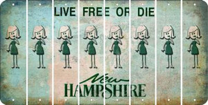 New Hampshire MOM Cut License Plate Strips (Set of 8) LPS-NH1-070