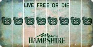 New Hampshire PUMPKIN Cut License Plate Strips (Set of 8) LPS-NH1-075